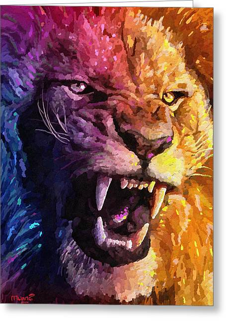 Lion Pride Greeting Cards Page 5 Of 42 Fine Art America