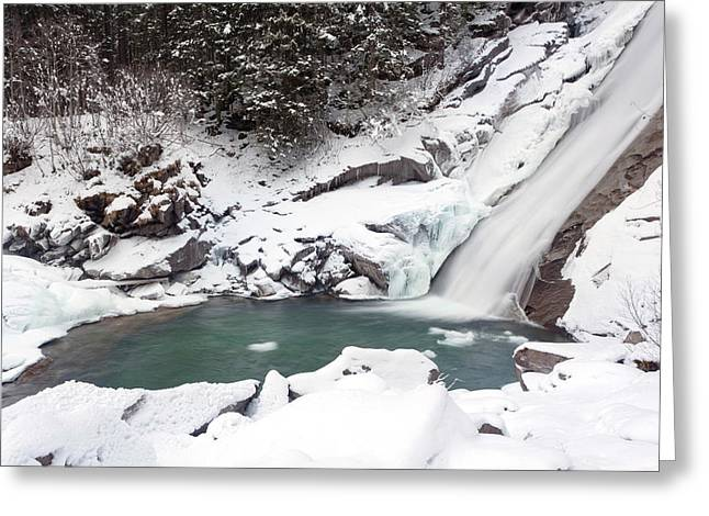 The Krimml Waterfalls In The National Greeting Card by Martin Zwick