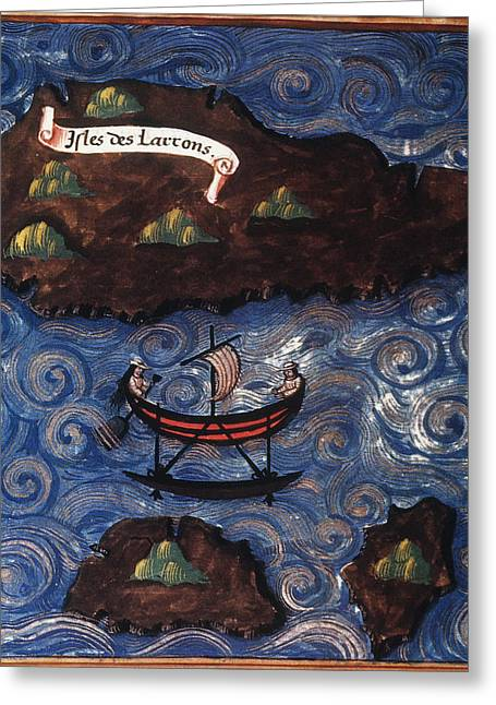 The Ladrone Islands Greeting Card by Granger