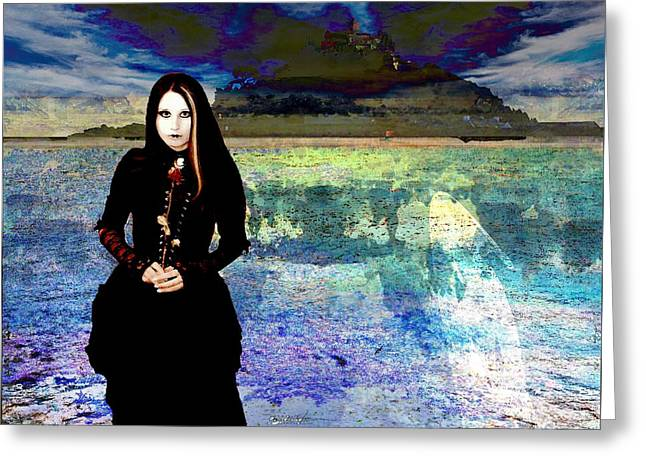 The Lady Of The Lake Greeting Card by Miguel Conesa Osuna