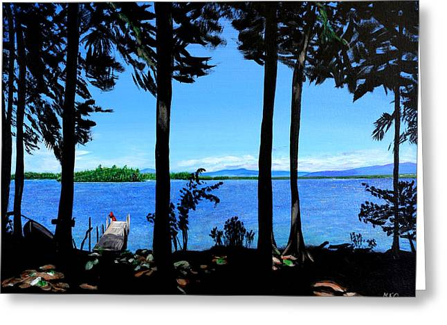 The Lake Greeting Card by Meghan OHare