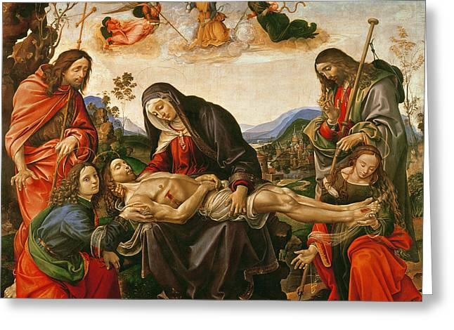 The Lamentation Of Christ Greeting Card
