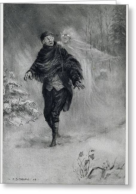The Legend Of Sleepy Hollow Greeting Card by British Library