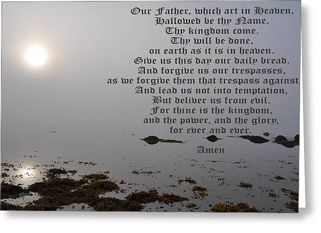The Lord's Prayer Greeting Card by Daryl Macintyre