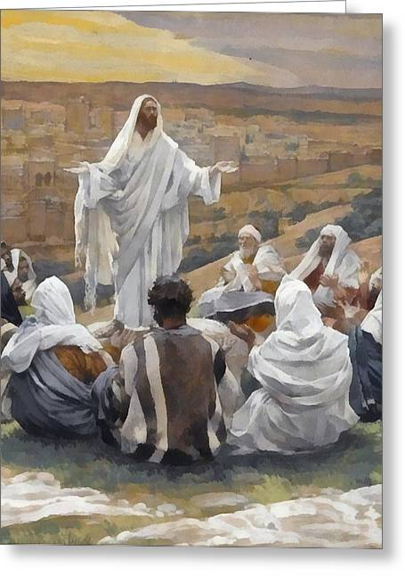 The Lords Prayer Greeting Card by James Tissot