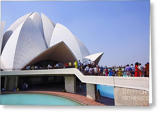 The Lotus Temple Delhi Greeting Card