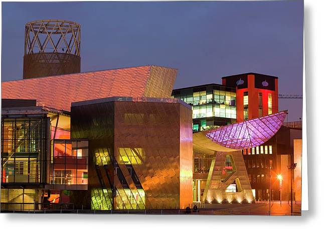 The Lowry Centre In Salford Quays Greeting Card by Ashley Cooper