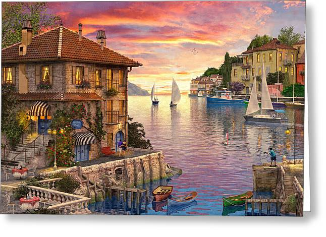 The Mediterranean Harbour Greeting Card