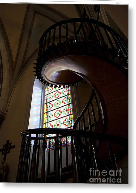 The Miraculous Staircase Greeting Card by Gina Savage