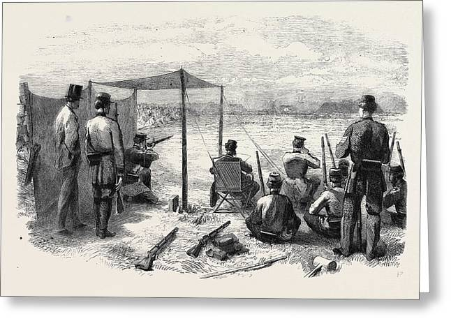 The National Rifle Association Meeting On Wimbledon Common Greeting Card by English School