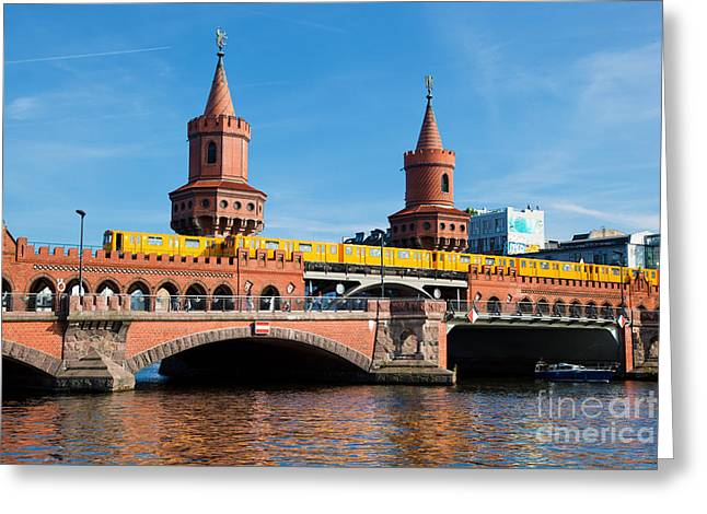 The Oberbaum Bridge In Berlin Germany Greeting Card by Michal Bednarek