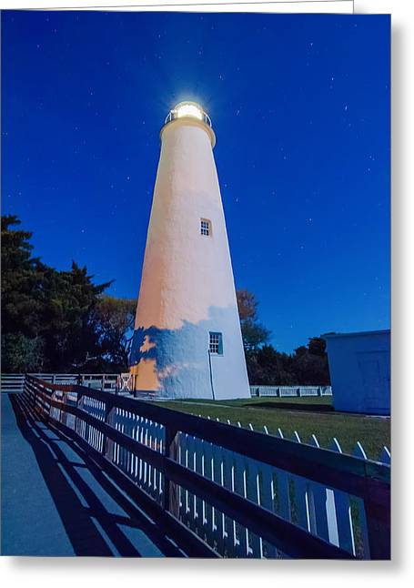 The Ocracoke Lighthouse On Ocracoke Island On The North Carolina Greeting Card by Alex Grichenko