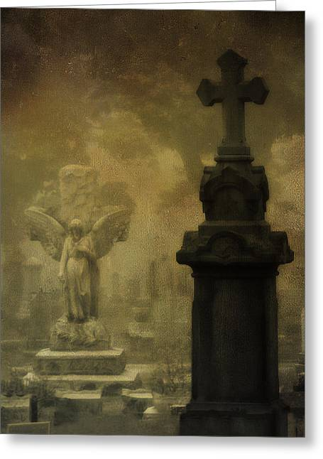 The Old Cross Greeting Card by Gothicrow Images