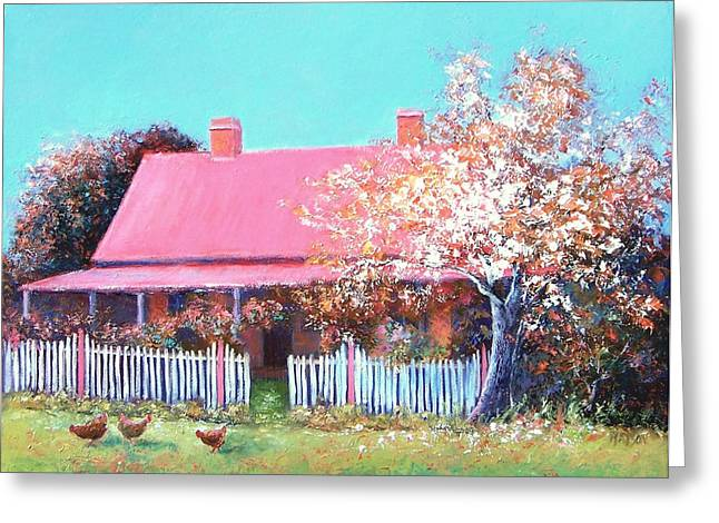 The Old Farm House Greeting Card by Jan Matson