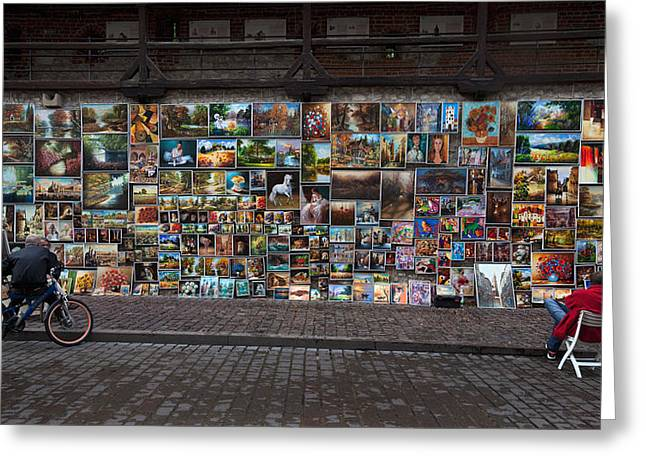 The Open Air Art Gallery Greeting Card by Panoramic Images