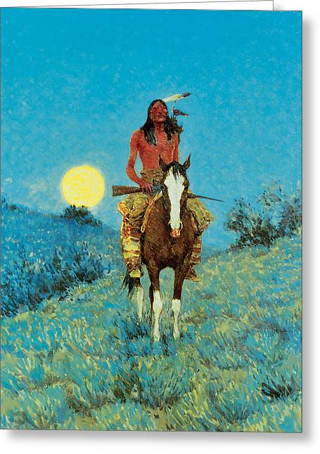 The Outlier Greeting Card by Frederic Remington