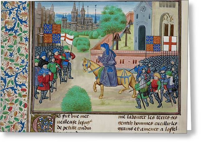 The Peasants' Revolt In England In 1381 Greeting Card by British Library