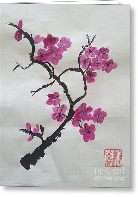 The Plum Blossom Greeting Card