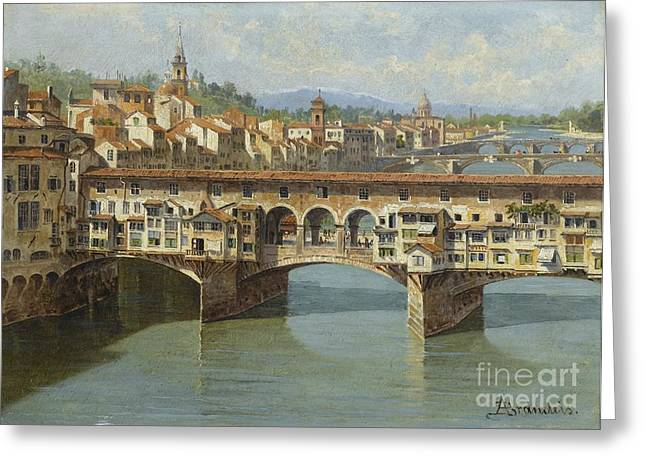 The Ponte Vecchio Florence Greeting Card