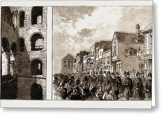 The Purchase Of Rochester Castle By The Corporation Greeting Card