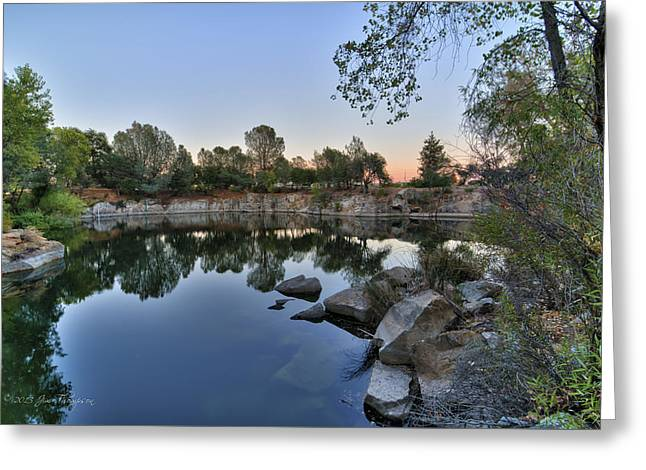 Greeting Card featuring the photograph The Quinn Quarry by Jim Thompson