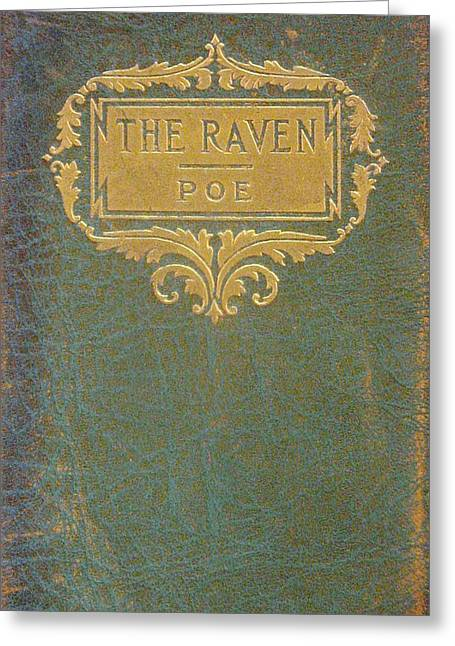 The Raven By Edgar Allan Poe Book Cover Greeting Card