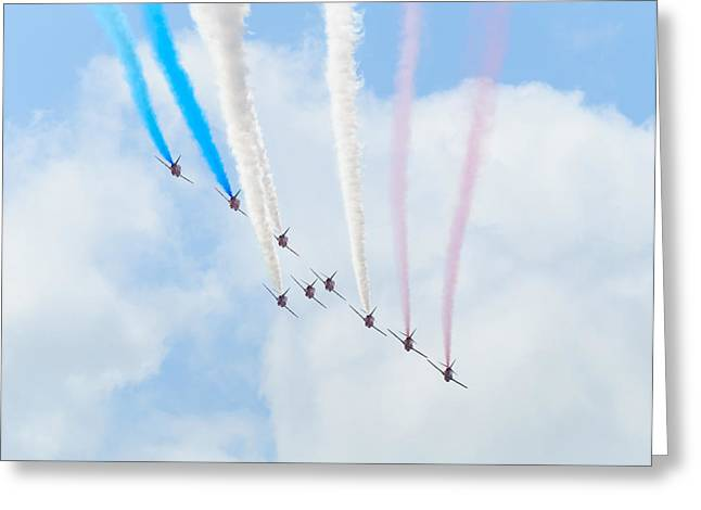 The Red Arrows Greeting Card by Dutourdumonde Photography