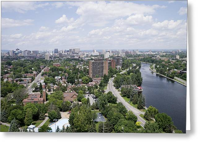 The Rideau Canal And Downtown, Ottawa Greeting Card