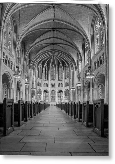 The Riverside Church Greeting Card by Susan Candelario