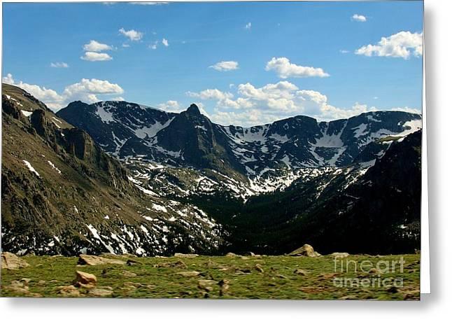 The Rockies Greeting Card by Barbara Bardzik