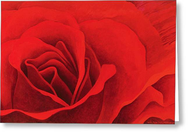 The Rose, In The Festival Of Light Greeting Card