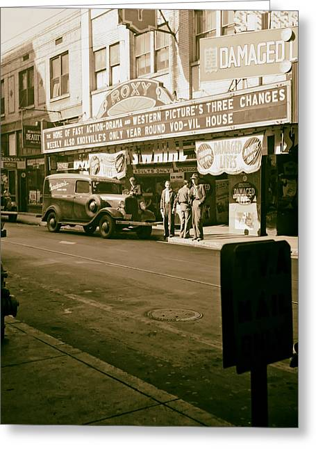 The Roxy Theatre Of Knoxville - 1941 Greeting Card