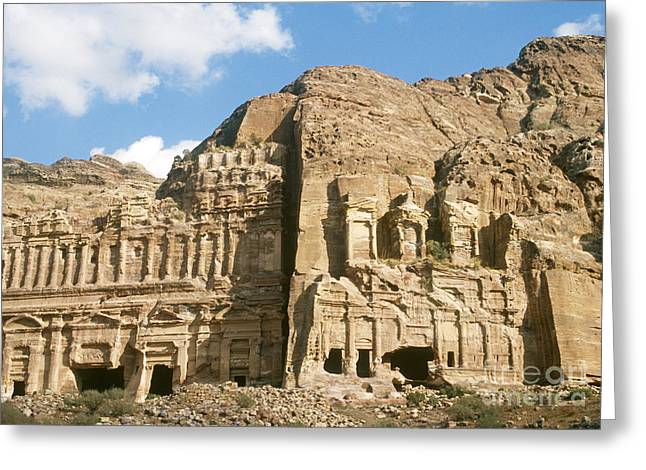 The Royal Tombs, Petra Greeting Card