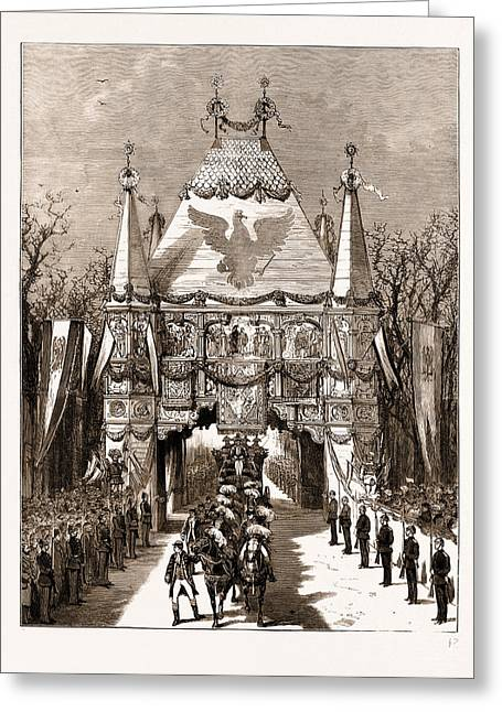 The Royal Wedding In Berlin, Germany Greeting Card by Litz Collection