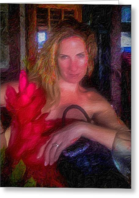 The Scarlet Flower Greeting Card by Bruce Brooks
