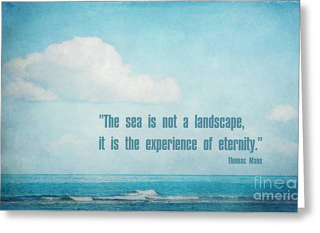 The Sea Greeting Card by Angela Doelling AD DESIGN Photo and PhotoArt