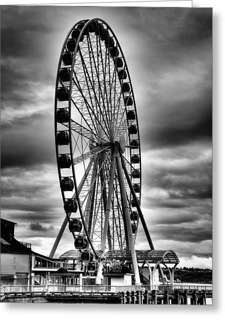 The Seattle Great Wheel Greeting Card