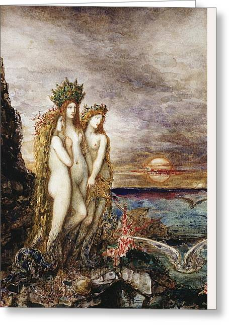 The Sirens Greeting Card by Gustave Moreau