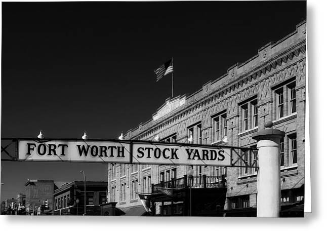 The Stock Yards Of Fort Worth Greeting Card by Mountain Dreams