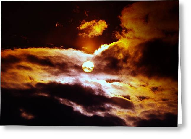 The Sun And Clouds Greeting Card by Jeff Swan