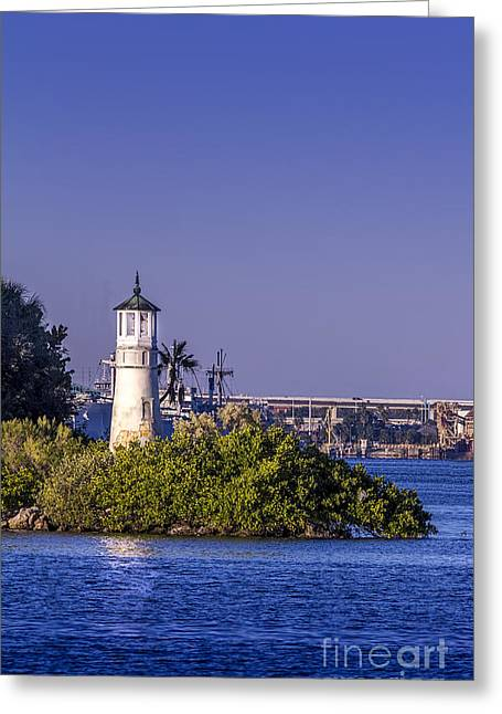 The Tampa Lighthouse Greeting Card by Marvin Spates