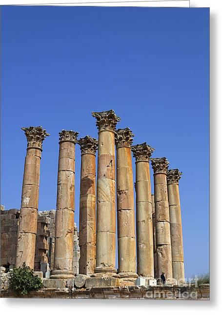 The Temple Of Artemis At Jerash Jordan Greeting Card by Robert Preston