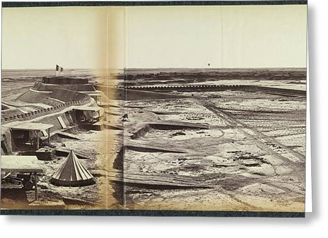 The Town And Forts Of Peh-tang Greeting Card by British Library