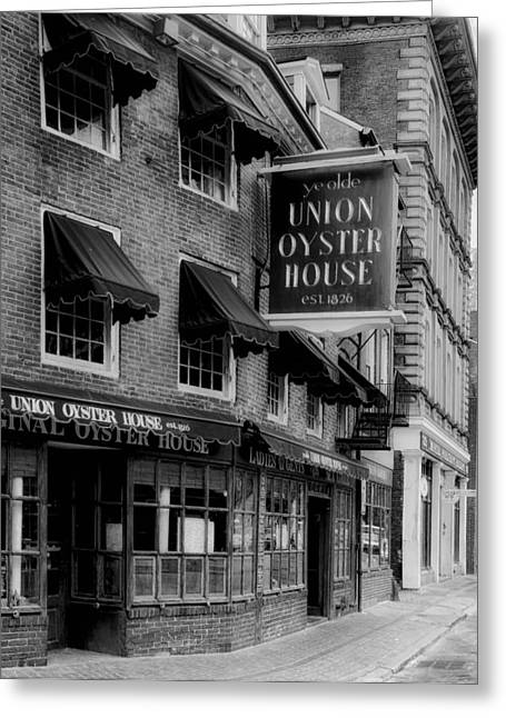 The Union Oyster House In Boston Greeting Card by Mountain Dreams