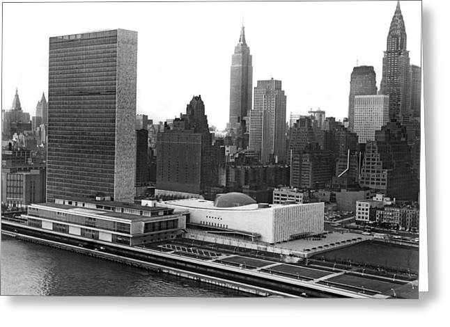 The United Nations Building Greeting Card by Underwood & Underwood