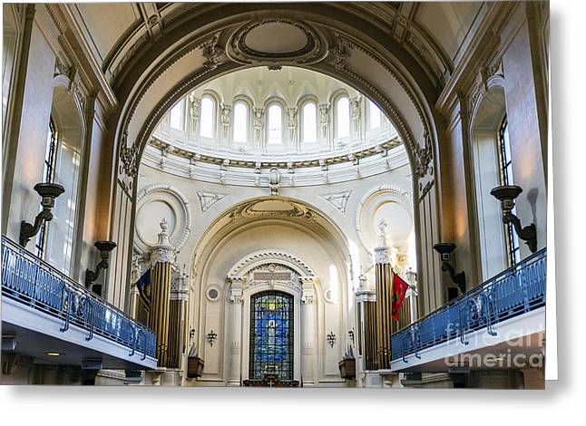 The United States Naval Academy Chapel Greeting Card by John Greim