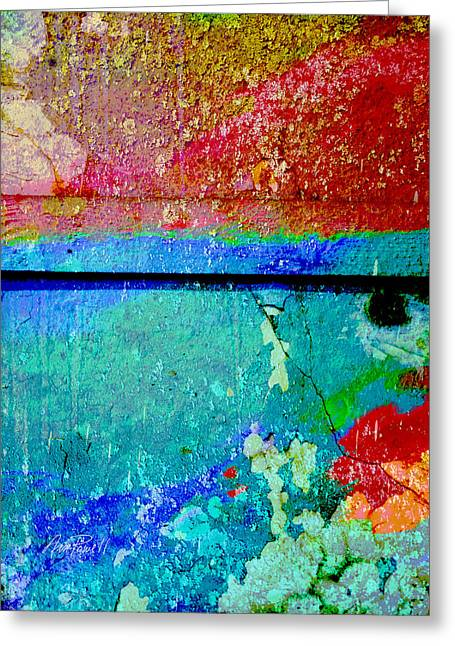 The Wall Abstract Photograph Greeting Card