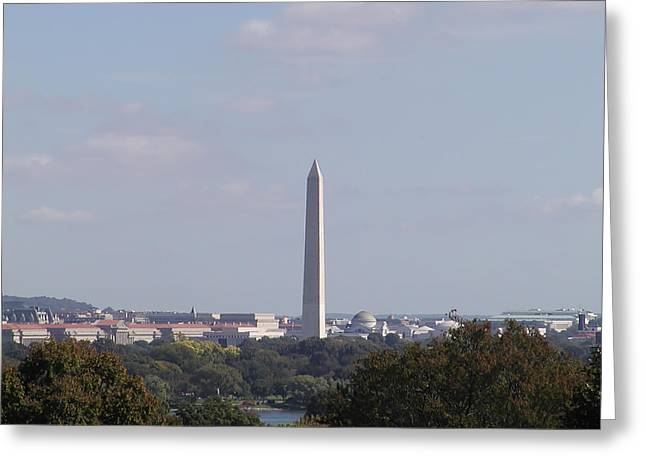 The Washington Monument  Greeting Card by Bill Cannon