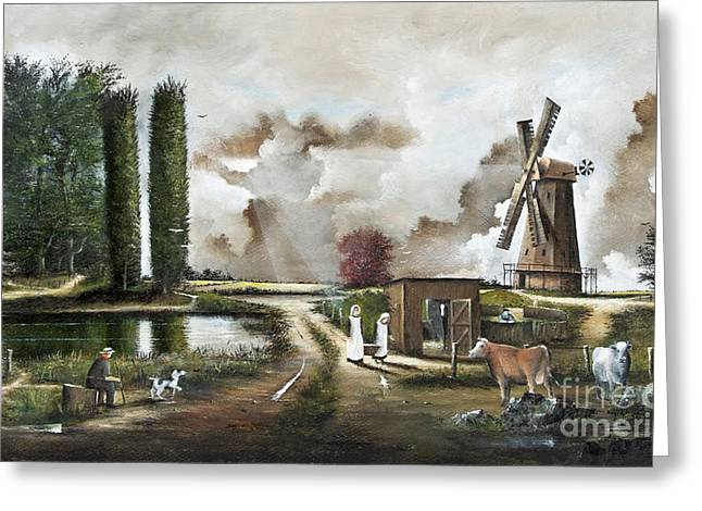 The Windmill Greeting Card