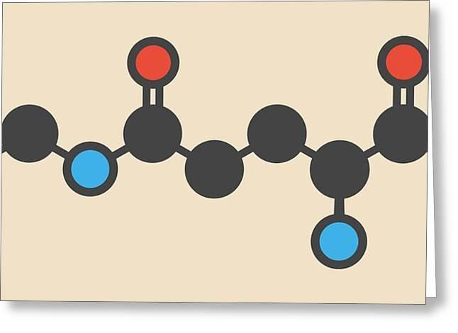 Theanine Herbal Molecule Greeting Card by Molekuul